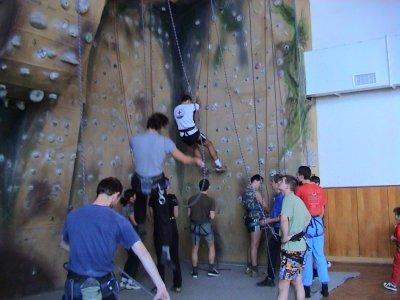 Lezecký výcvik na umělé lezecké stěně